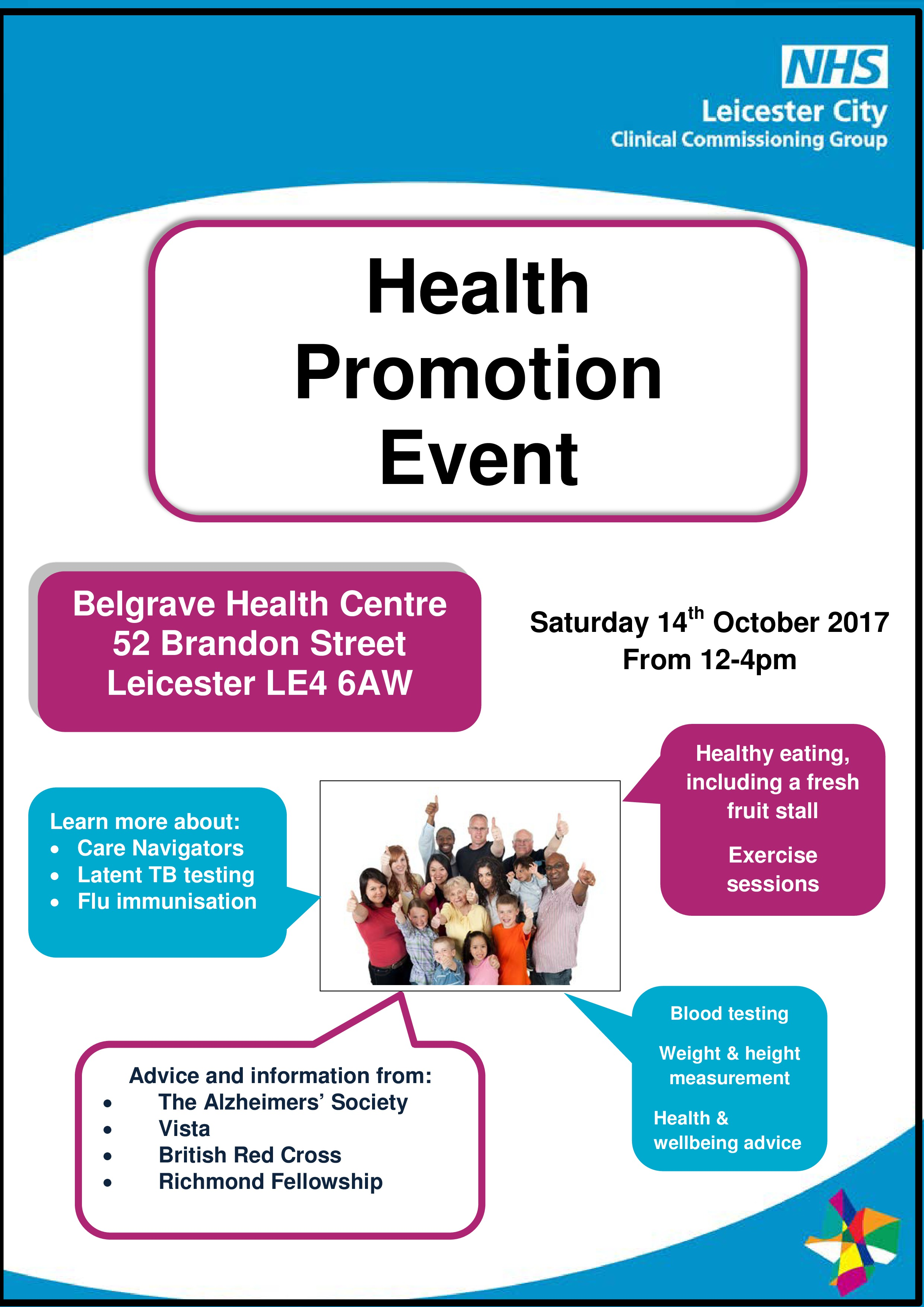 Health Promotion Event - 14 October   News ...