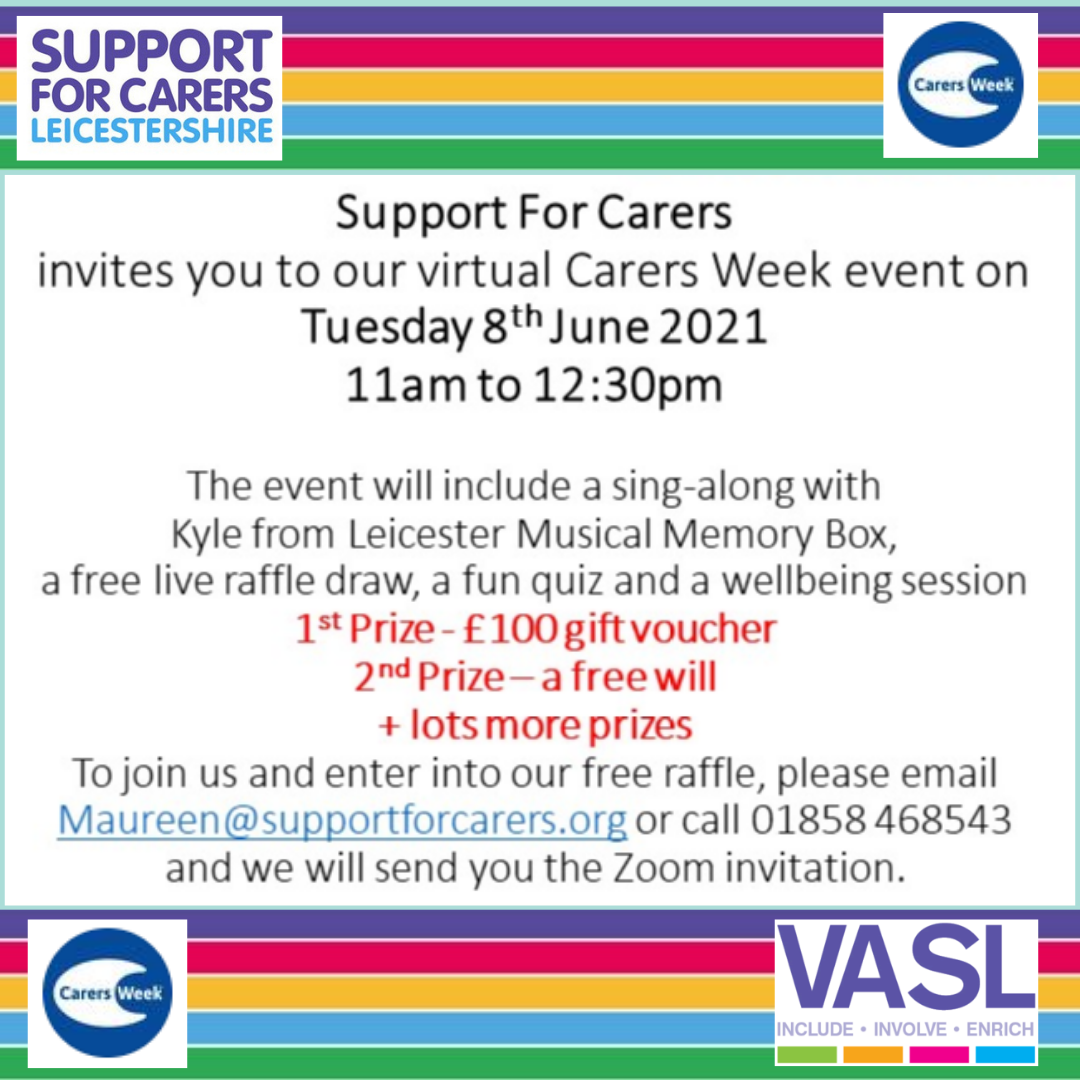 Join us at our Carers Week 2021 events
